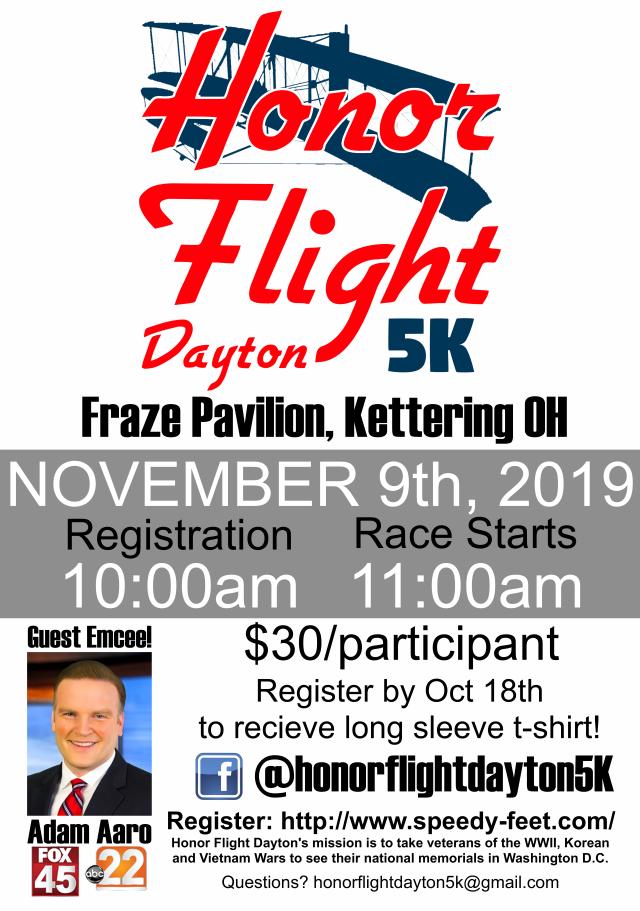 Honor Flight 5K - www.speedy-feet.com